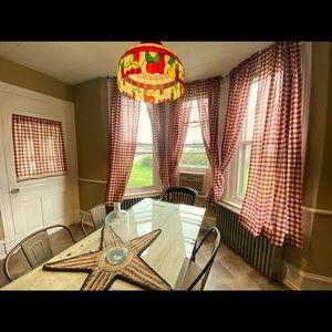 Buffalo check window & door curtains
